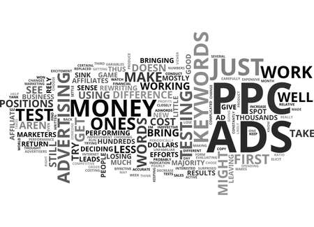 WHY MOST PPC ADVERTISERS LOSE MONEY TEXT WORD CLOUD CONCEPT