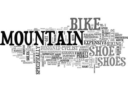 WHY MOUNTAIN BIKE SHOES TEXT WORD CLOUD CONCEPT