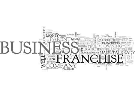 WHY NOT OWN A FRANCHISE TEXT WORD CLOUD CONCEPT Illustration