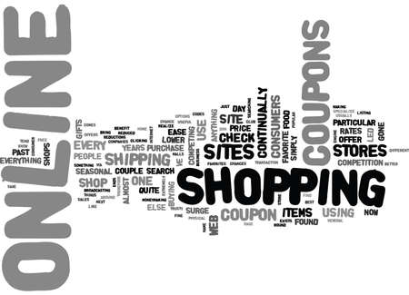 WHY ONLINE COUPONS ARE THE RAGE TEXT WORD CLOUD CONCEPT Иллюстрация