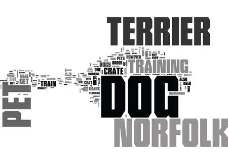 WHY OWN A NORFOLK TERRIER DOG AS PET TEXT WORD CLOUD CONCEPT Иллюстрация