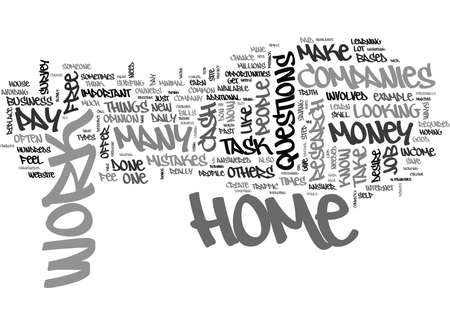 make money fast: WHY PAY A FEE FOR WORK AT HOME JOB TEXT WORD CLOUD CONCEPT