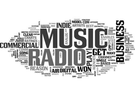 WHY RADIO WON T PLAY INDIE MUSIC TEXT WORD CLOUD CONCEPT Ilustrace