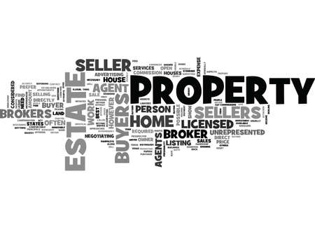 WHY SOME HOME SELLERS PREFER DIRECT BUYERS OVER BROKERS TEXT WORD CLOUD CONCEPT Ilustração