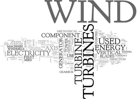 WIND TURBINES TEXT WORD CLOUD CONCEPT