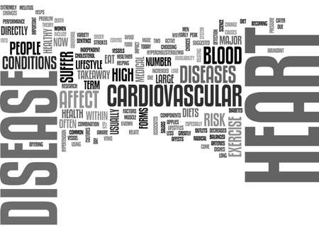WHY HEART DISEASE TEXT WORD CLOUD CONCEPT Illustration