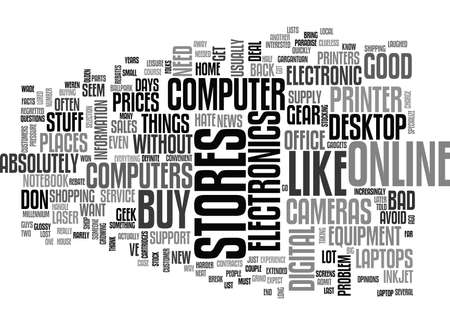 take charge: WHY I BUY MY COMPUTERS AND OTHER ELECTRONICS ONLINE TEXT WORD CLOUD CONCEPT Illustration