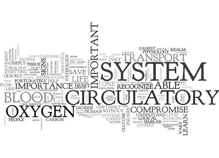 WHY IS IT IMPORTANT TO LEARN THE CIRCULATORY SYSTEM TEXT WORD CLOUD CONCEPT