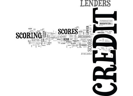 WHY IS YOUR CREDIT SCORE IMPORTANT TEXT WORD CLOUD CONCEPT