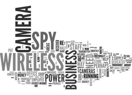WIRELESS SPY CAMERA THERE WHEN GOOD HELP IS HARD TO FIND TEXT WORD CLOUD CONCEPT Illustration