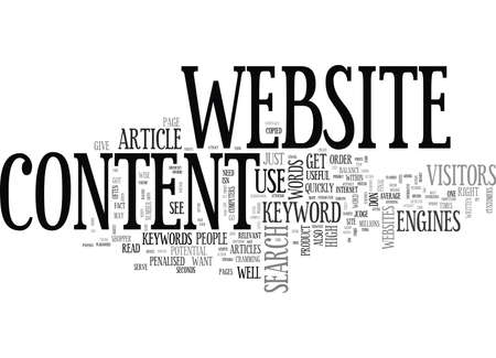 WISE WORDS ON WEBSITE CONTENT TEXT WORD CLOUD CONCEPT Illustration
