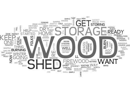 WOOD STORAGE SHED TEXT WORD CLOUD CONCEPT