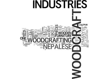 WOODCRAFT INDUSTRIES WOODEN BRIDGES FROM THE PAST TEXT WORD CLOUD CONCEPT