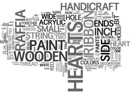 WOODEN HANDICRAFT TEXT WORD CLOUD CONCEPT Ilustração