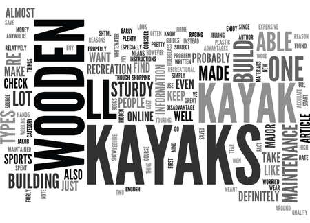 writer: WOODEN KAYAKS TEXT WORD CLOUD CONCEPT