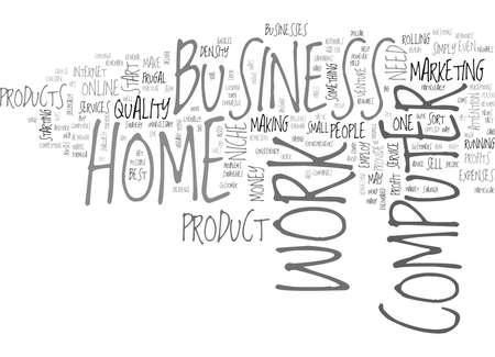 WORK AT HOME ON COMPUTER TEXT WORD CLOUD CONCEPT