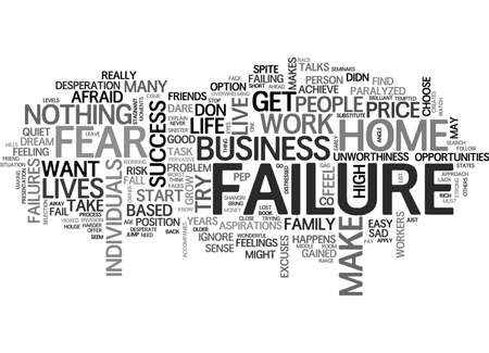 WORK AT HOME OPPORTUNITIES IGNORE FAILURE TEXT WORD CLOUD CONCEPT