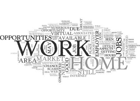 仕事ホームでのテキスト単語クラウドの概念の機会