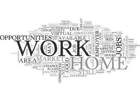 WORK AT HOME OPPORTUNITIES TEXT WORD CLOUD CONCEPT