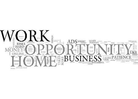 WORK AT HOME OPPORTUNITY TEXT WORD CLOUD CONCEPT