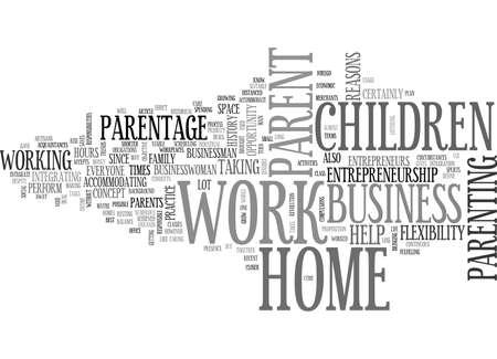 WORK AT HOME PARENT TEXT WORD CLOUD CONCEPT Illustration