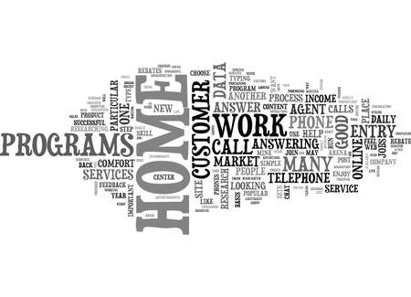 WORK AT HOME PHONE JOBS TEXT WORD CLOUD CONCEPT