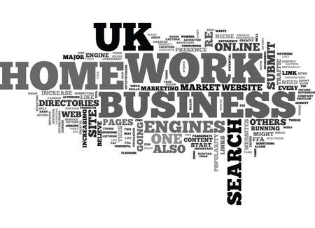 WORK AT HOME UK TEXT WORD CLOUD CONCEPT