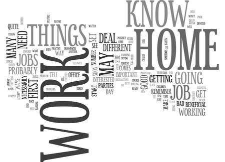WORK AT HOME WHAT YOU MAY NOT KNOW TEXT WORD CLOUD CONCEPT Illustration