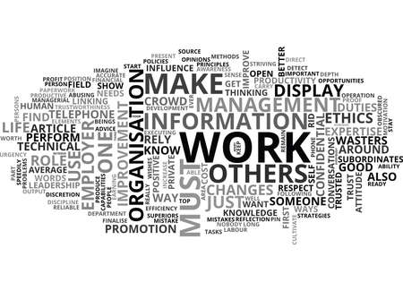 pierre: WORK ATTITUDE ETHICS FOR PROGRESS TEXT WORD CLOUD CONCEPT