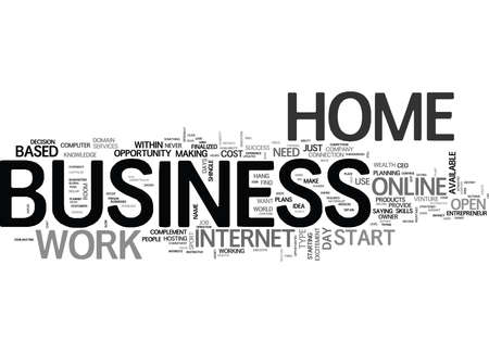 WORK FROM HOME BECOME A BUSINESS EXECUTIVE FOR UNDER DOLLARS TEXT WORD CLOUD CONCEPT