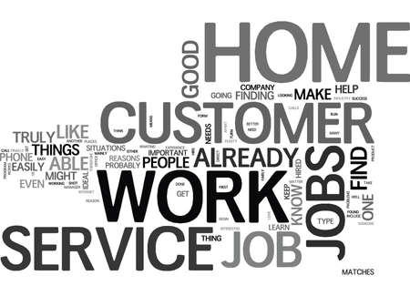 WORK FROM HOME CUSTOMER SERVICE TEXT WORD CLOUD CONCEPT 向量圖像