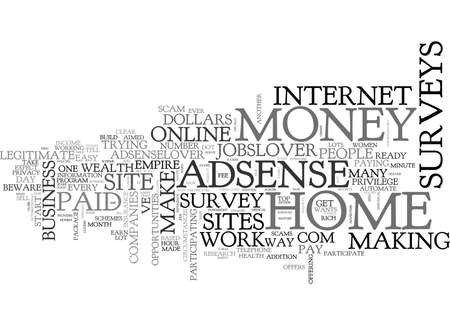 WORK FROM HOME FOR DOLLARS TEXT WORD CLOUD CONCEPT Stock Vector - 79647266