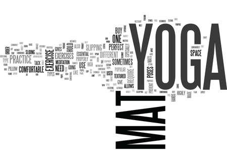 YOGA MAT TEXT WORD CLOUD CONCEPT Ilustração