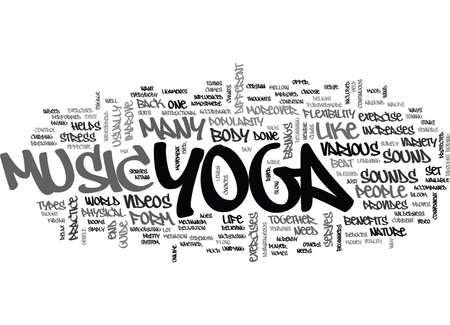 YOGA MUSIC TEXT WORD CLOUD CONCEPT Ilustração