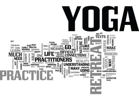 YOGA RETREAT TEXT WORD CLOUD CONCEPT Illustration