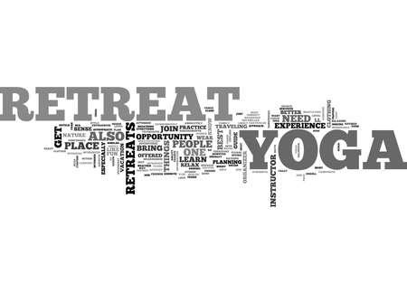 YOGA RETREATS TEXT WORD CLOUD CONCEPT Reklamní fotografie - 79647456