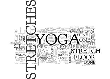 YOGA STRETCHES TEXT WORD CLOUD CONCEPT
