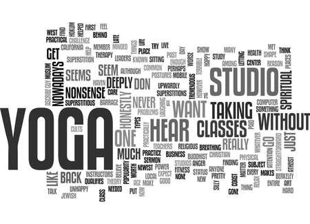 deeply: YOGA STUDIO TEXT WORD CLOUD CONCEPT Illustration