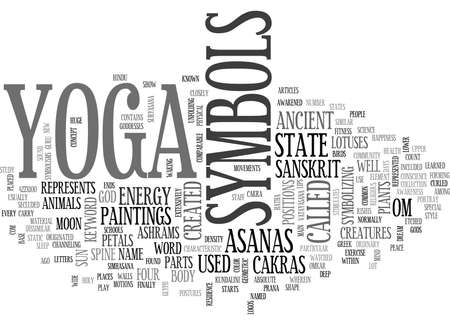 YOGA SYMBOLS TEXT WORD CLOUD CONCEPT