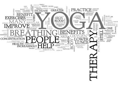 YOGA THERAPY TEXT WORD CLOUD CONCEPT