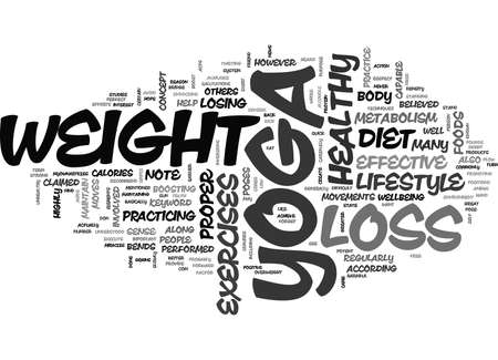 YOGA WEIGHT LOSS TEXT WORD CLOUD CONCEPT