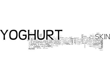 YOGHURT THE COOLEST SPARKLER TEXT WORD CLOUD CONCEPT Ilustração