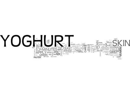 YOGHURT THE COOLEST SPARKLER TEXT WORD CLOUD CONCEPT Иллюстрация