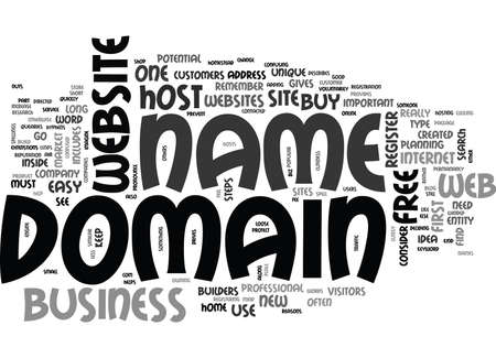 YOU NEED YOUR OWN DOMAIN NAME TEXT WORD CLOUD CONCEPT Illustration