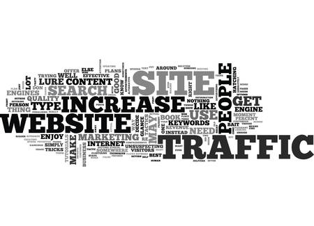 YOU SHOULD HAVE A COMPREHENSIVE PLAN TO INCREASE WEBSITE TRAFFIC TEXT WORD CLOUD CONCEPT