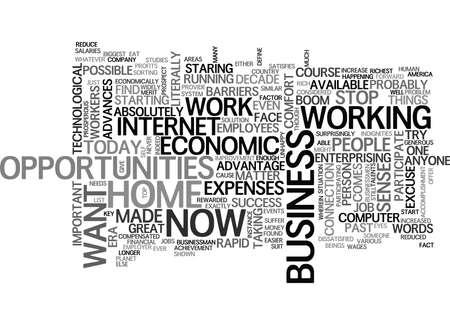 あなたのホーム ビジネスの機会テキスト WORD クラウドの概念は経済的な成功への鍵  イラスト・ベクター素材