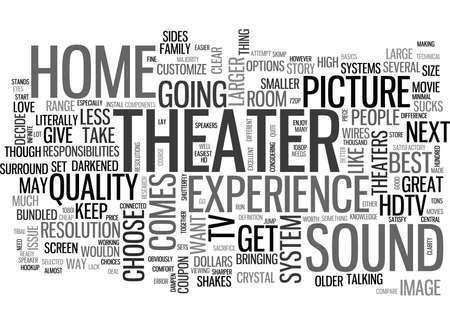 YOUR HOME THEATER HOW TO HOOKUP TEXT WORD CLOUD CONCEPT