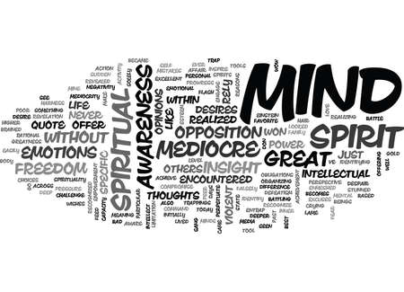 encountered: YOUR MEDIOCRE MIND TEXT WORD CLOUD CONCEPT