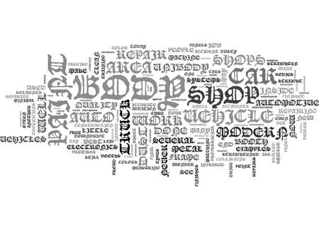 YOUR MODERN AUTO BODY REPAIR SHOP TEXT WORD CLOUD CONCEPT