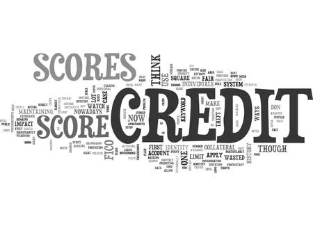 CREDIT SCORES TEXT WORD CLOUD CONCEPT